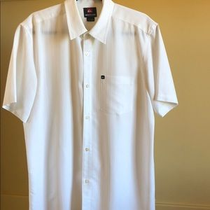 Quicksilver, Men's Button Down, Short Sleeve